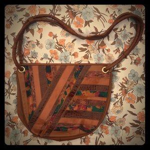 L'annette vintage leather hobo bag purse